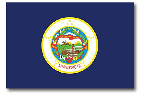 Minnesota Car Magnet US State Flag Refrigerator Locker SUV Heavy Duty Waterproof…