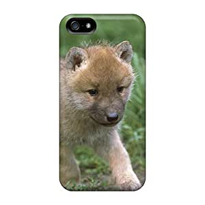 Durable Defender Case For Iphone 5/5s Tpu Cover(baby Wolf Walking)