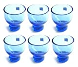 JapanBargain 2623X6 Cold Glass Sake Cups, Blue, Set of 6