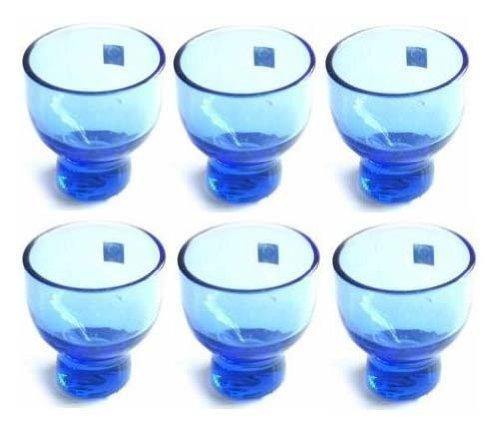 - JapanBargain 2623x6 Glass Sake Cups, Blue Cupx6,