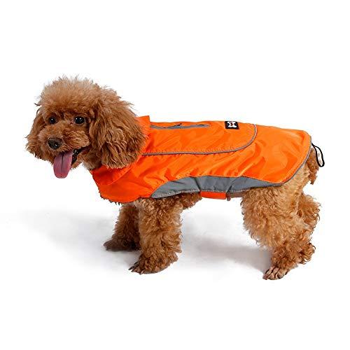 orange Xl orange Xl LSLMCS Pet Coat Jacket Vintage Style Light Reflective Winter Warm Vest with Harness Hole,Dogs Windproof and Waterproof Cold Weather Coats Thick (color   orange, Size   XL)