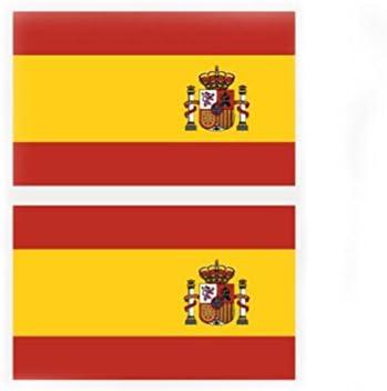 Nikgic Mini Pack De Pegatinas de En La Cara Bandera de España ...