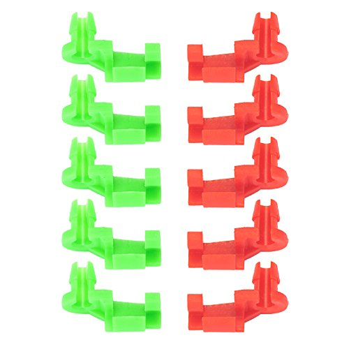 VLUXPARTS 5 Pairs 1999-2007 Chevy Silverado GMC Sierra Tailgate Handle Rod Clip Left & Right Rod Retainer Clips OEM Replacement 88981030, 88981031