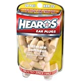 HEAROS Ultimate Softness Series Noise Cancelling Disposable Foam Earplugs NRR 32 Hearing Protection (20 Pair)