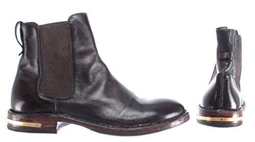 Dark MOMA 83704 Women's Leather Pelle Boots Vintage R2 Shoes Ankle Brown IT Made Z8SqxI8F