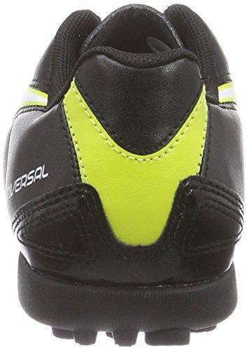 Puma Universal II TT Jr - zapatillas de fútbol de material sintético infantil negro - Schwarz (black-white-sulphur spring 03)