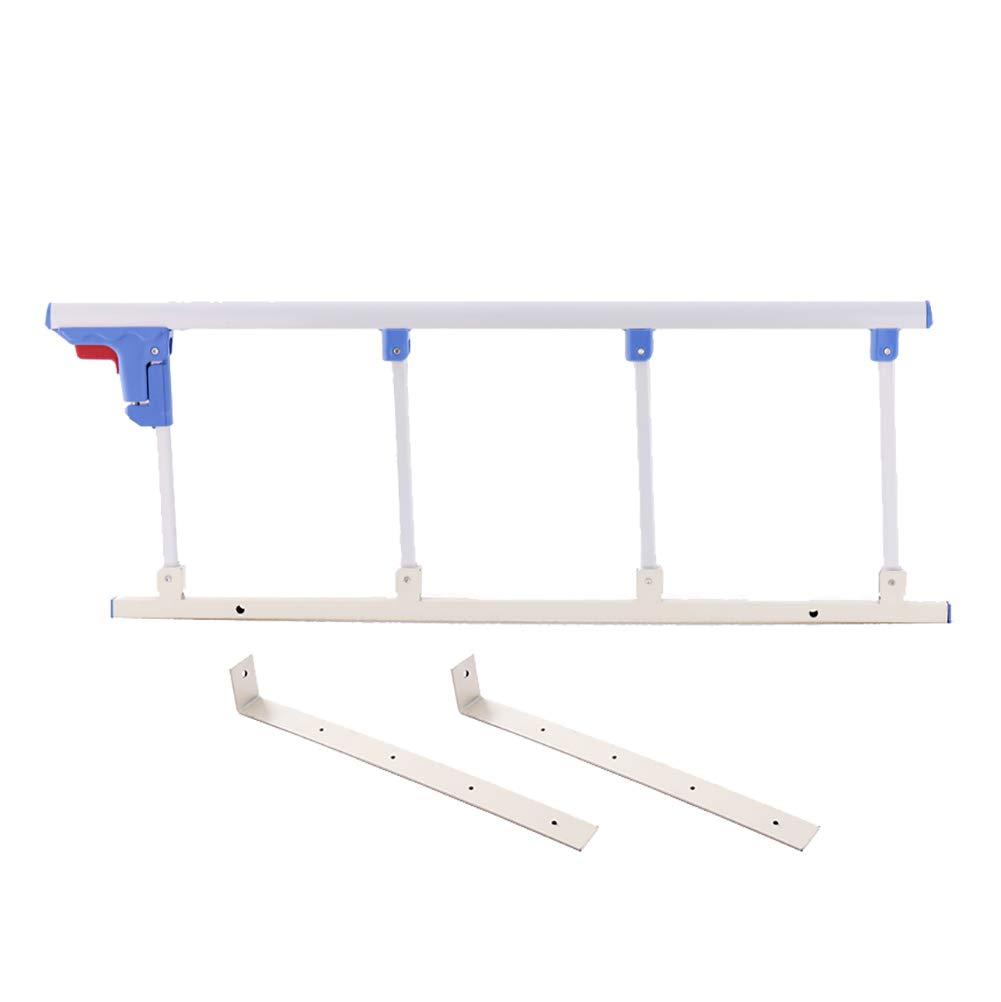 Silver white 94×35cm Elderly Safety Bedside Guard, Folding Bed Assist Bar Handle Medical Supply Hospital Aluminum Alloy Bed Railing (color   Champagne, Size   120×35cm)