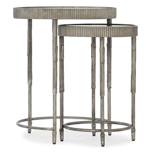Hooker Furniture Silver 20'' Wide Round Accent Nesting Table by Hooker Furniture