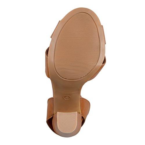Brinley Co. Womens Ankle-strap Open Toe Heels Chestnut GGKA9q
