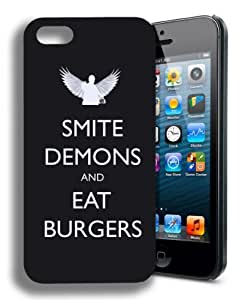 Keep Calm and Smite Demons Funny Supernatural Iphone 5 and 5s Case