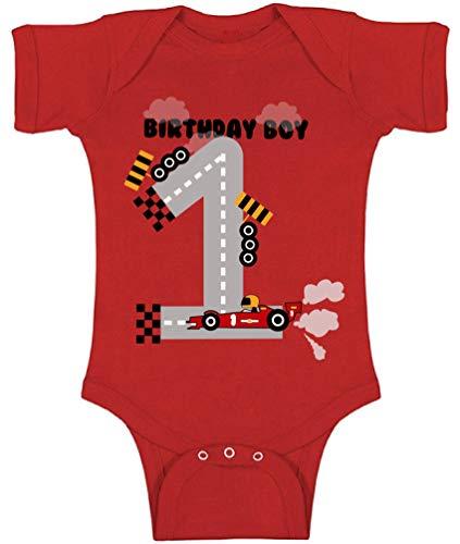 Awkward Styles 1 Year Old Girl Boy Baby Bodysuits Car Truck Unicorn Dinosaur Outfits Birthday Boy Race Car 12M (Outfit Car)