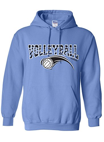 Sports Katz Womens 'Zebra' VOLLEYBALL Hoodie Columbia Blue Large