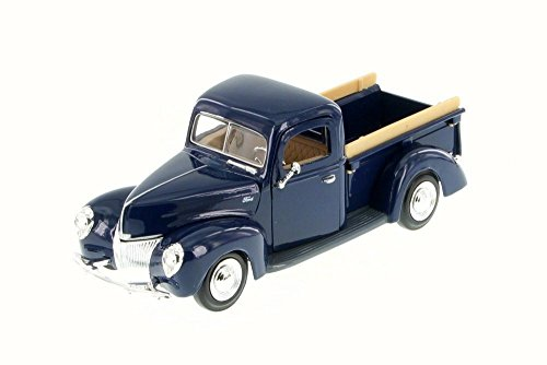 Motor Truck (1940 Ford Pick Up truck, Blue - Motor Max 73234WB - 1/24 Scale Diecast Model Toy Car)