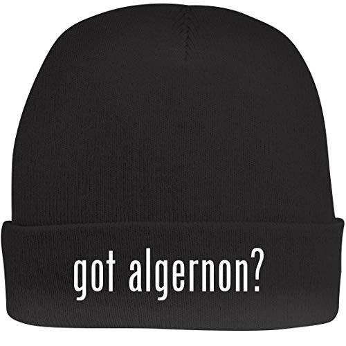 (Shirt Me Up got Algernon? - A Nice Beanie Cap, Black, OSFA )