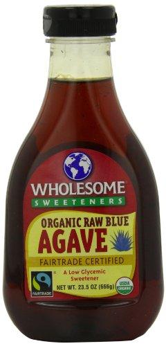 Les édulcorants sains organique cru agave bleu, bouteilles 23,5 onces (pack de 6)