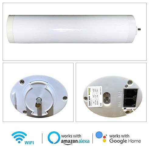 Ryosva SmartThings - Smart WiFi Curtain Motor Built-in Integration with  Amazon Alexa and Google Home, Remote Control Smart Motorized Electric  Curtain