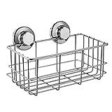 Baño cuarto de baño accesorios de cocina ventosas acero inoxidable 304 fuertes soportes de hardware gancho de óxido ducha profunda con ventosa baño caddie montaje de pared almacenamiento de cocina caño vacío columna champú baño caddie estante baño estante de cocina