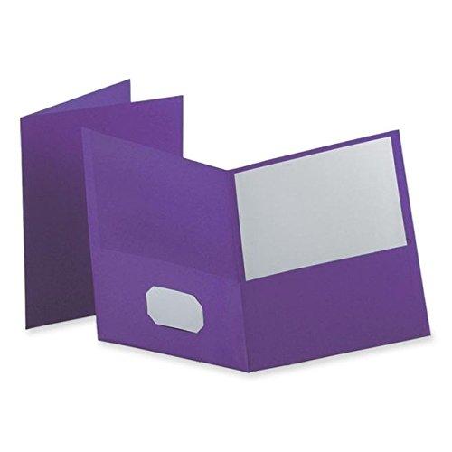Oxford Twin Pocket Folders, Letter Size, Purple, 25 per Box (57514)