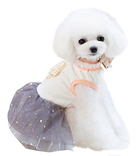 [Uniquorn 2017 Spring Summer New Pet Clothes Cute Fashion Camellia Star Poncho Skirt Breathable And Comfortable Dog] (Dorothy Wizard Of Oz Costume Pattern Free)