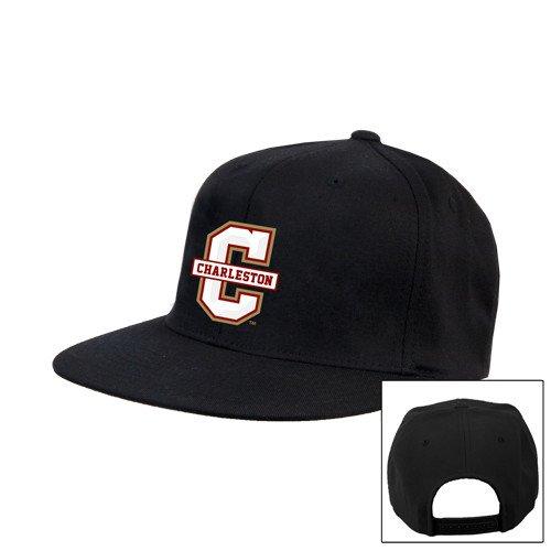 College of Charlestonブラックフラットビルスナップバック帽子'公式ロゴ – Cチャールストン'   B015T33MSO