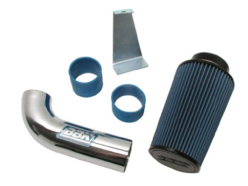 BBK 1556 Cold Air Intake System - Power Plus Series Performance Kit For Ford Mustang 5.0L -  Non Fenderwell Style - Chrome Finish - Ford Metal Polished Intake System