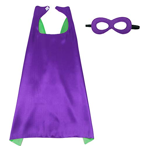 iROLEWIN Superhero Cape Adult Sized Costumes with Mask