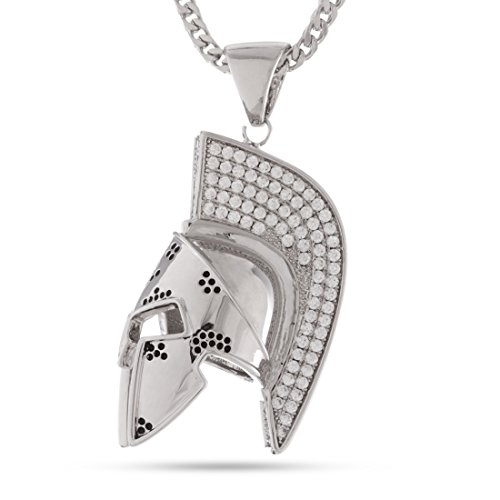 The White Gold Spartan Necklace by King Ice