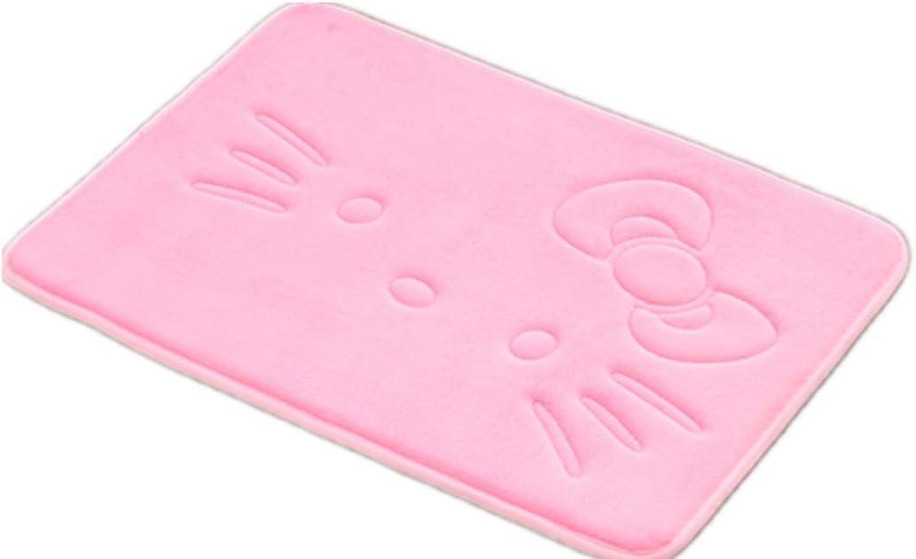 Cute Cartoon Pink Area Rugs Bathroom Rugs Super Soft Memory Foam Bath Mat Non Slip Absorbent Door Mat Kitchen Mat Welcome Mat 15.75x23.62 Inch