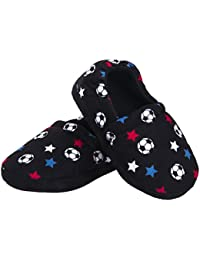 Toddler Boy Kid Slippers Cozy Comfy Indoor Slip-On Anti-Slip Sole House Shoe