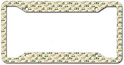 New Cool card Label License Frame - Front and Rear License Plate 12 x 6 inches