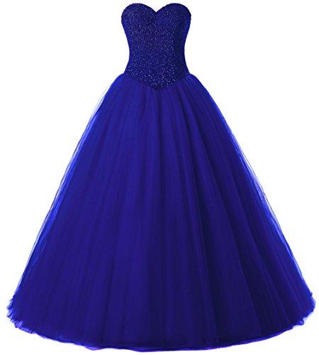 Beautyprom Women's Ball Gown Bridal Wedding Dresses (US4, RoyalBlue)