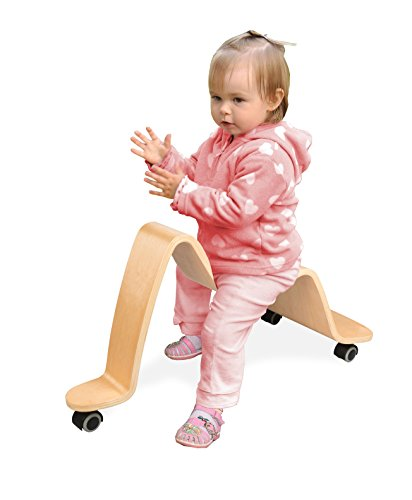 Wave Wooden Scooter - Solid Wood - Ride On Wheels Move in All Directions!
