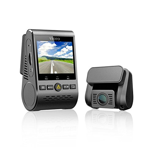 Viofo A129 GPS Dual Lens Dash Cam Full HD 1080P 140° Wide Angle Dashboard Camera w/GPS, Low Light Vision G-Sensor ()