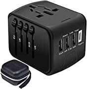 SZROBOY Travel Adapter,Universal Travel Adapter,All-in-one International USB Travel Adapter with High Speed 2.4A 4-port…