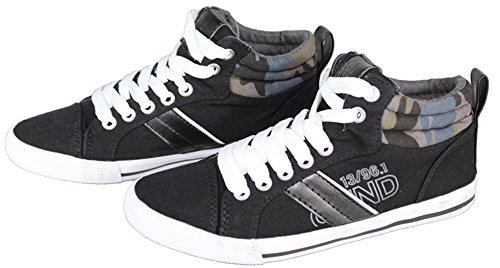 Pepperts Jungen Sneaker Schuhe Grau/Schwarz