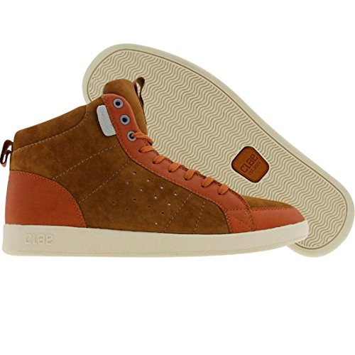 Clae Men's Russell High-Top Sneaker, Grizzly Caramel, 9 M US