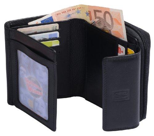 serie Avanco in zip pelle Black Portafoglio 13x10cm con qTwOXwSz