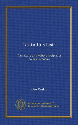 Four essays on the first principles of political economy
