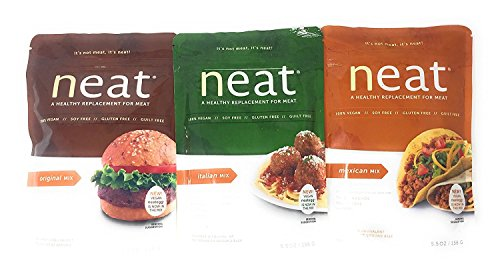 Neat Vegetarian Mix Variety 5.5 Ounce Packs: Original, Italian, Mexican (1 of each) by Neat