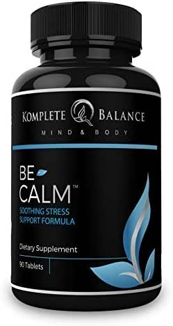 BeCalm   Premium Stress & Anxiety Relief Supplement, Natural Sleep Aid, Adrenal Support, Cortisol Manager, Mood Booster - Vitamin B Complex, Valerian Root & Chamomile to Calm, Soothe & Relax