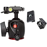 Manfrotto XPRO Magnesium Ball Head with Two Ivation Replacement Quick Release Plates for the RC2 Rapid Connect Adapter