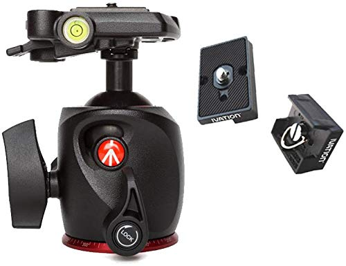 Manfrotto XPRO Magnesium Ball Head with Two Ivation Replacement Quick Release Plates for the RC2 Rapid Connect Adapter ()
