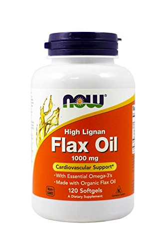 Now Foods: High Lignan Organic Flax Seed Oil Essential Omega-3's, 120 sgels
