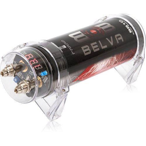 Belva 1.0 Farad Power Capacitor - Red Digital Voltage Display [BB1D] (Amp Power Capacitor)