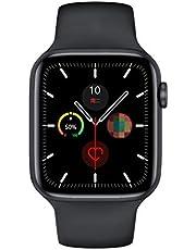Serie 6 Smart Watch IWO W26 SmartWatch W26/W26m EKG pulsmätare temperatur vattentät för Apple Android W26 Pro (Färg: Svart, storlek: 44 mm W26)