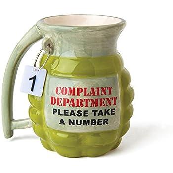 "BigMouth Inc Grenade Mug - ""Take a Number"" Ceramic Funny Coffee, Tea, Hot Chocolate Mug Gift"