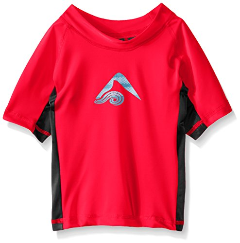 Kanu Surf Little Boys' Toddler Halo UPF 50+ Sun Protective Rashguard, Red, 4T (Halo Suits For Kids)