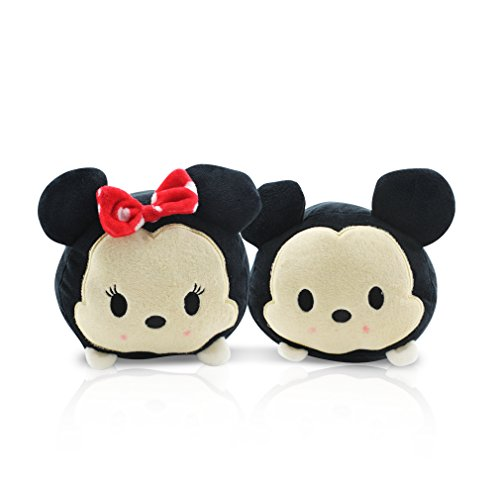 4 Person Themed Halloween Costumes (Finex - Set of 2 - Mickey Mouse and Minnie Mouse Tsum Tsum Series Plush Pillow Stackable Long Cushion)