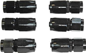 A.N. -06 ST. Black Aluminum Reusable Hose End (6 Pack) of Fittings