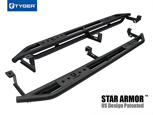 (Tyger Auto TG-AM2C20108 Star Armor Kit (for 1999-2006 Silverado/Sierra Crew Cab | Textured Black | Side Step | Nerf Bars | Running Boards))